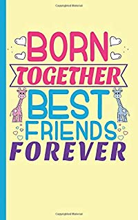 Twin Boy and Girl Best Friends Journal - Notebook: Half Lined Half Blank Page, Twin to Twin Baby Sibling Playtime - Draw and Write Story Note Book, Small 5x8