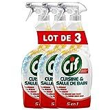 CIF Pistolet Spray Nettoyant Cuisine & Salle de Bain (Lot de 3x750ml)