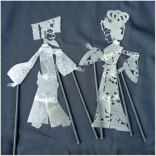 GFPR Schattenspiel, Shadow Play Requisiten Mit Bedienhebel Manuelle DIY Färbung Schattenfiguren Emperor's Concubine