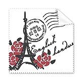 Tour Eiffel roses France Paris Stamp Style Lunettes Chiffon Chiffon de nettoyage Cadeau Nettoyant po...