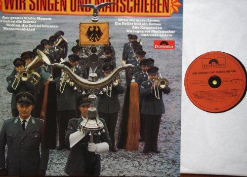 WIR SINGEN UND MARSCHIEREN Bildhülle mit original Innen-Schutzhülle Polydor # 2416 144 Unsere Jungs von der Bundeswehr Soldatenchor der 11. Panzer-Grenadier-Division Die Blauen Jungs