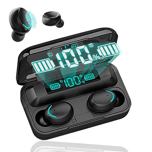 Auriculares Inalámbricos Bluetooth 5.0,In-Ear Auriculares,Microfono Integrado,Carga con Cable USB,HiFi Calidad De Sonido Cascos Auricular,Adecuados para Teléfonos Móviles iPhone/Android/Xiaomi