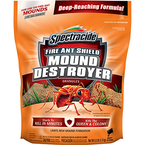 Spectracide HG-96270 Fire Ant Shield Mound Destroyer Granules, 3.5-Pound