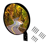 WatchYrBack 18 inch Convex Mirror, Outdoor or Indoor, Wide Angle View, Curved Traffic Safety and Security Mirror 460 mm