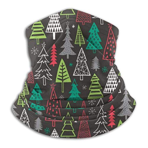 ShiHaiYunBai Tour de Cou Cagoule Microfibre Chapeaux Tube Masque Visage, Christmas Forest Trees Fleece Neck Warmer - Reversible Neck Gaiter Tube, Versatility Ear Warmer Headband & For Men And Women