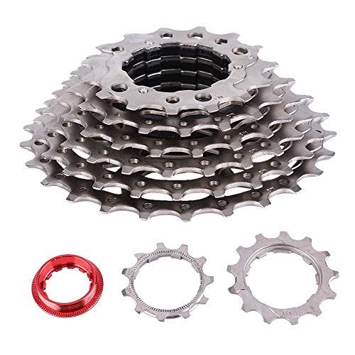 VGEBY Fahrradkassette, 8 Gang 11-25T Fahrradfreilauf Stahlfahrrad mit Zubehör für Rennrad