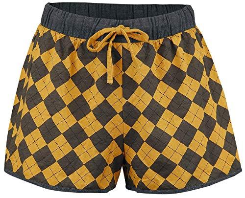 HARRY POTTER Hufflepuff Quidditch Mujer Pijama Gris/Amarillo S