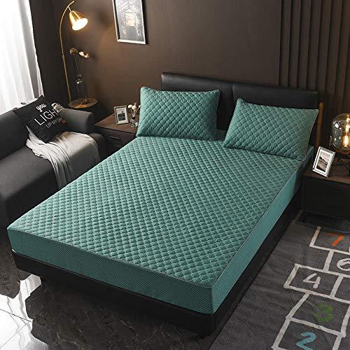 XGguo Protector de colchón - Protector de colchón antialérgico Sábana más Gruesa de una Sola Pieza antideslizante-10_200 × 220cm