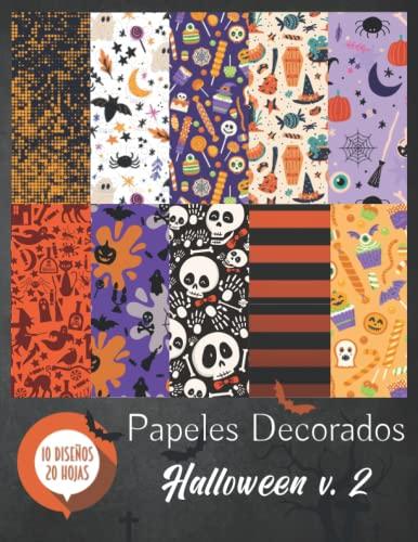 Papeles Decorados - Halloween v.2: Papel Scrapbooking - Folios Decorados - Papel Scrap