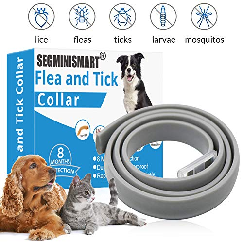 SEGMINISMART Collar Antiparasitos para Perro,Collar