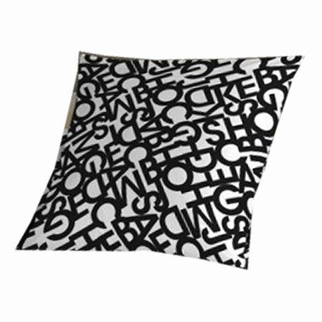 SABANALIA - Cuadrante para Colcha Letras, 50 x 50, Negro