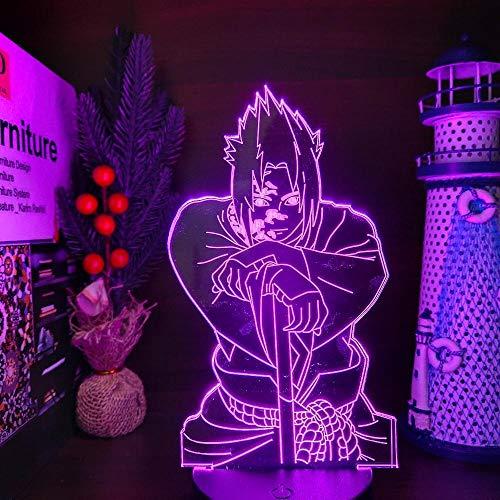 Lámpara de anime 3D luces de noche para niños de conversión de color de la luz de la Academia Dabi luces de noche Dabi Led iluminación escritorio para regalo de Navidad - control remoto