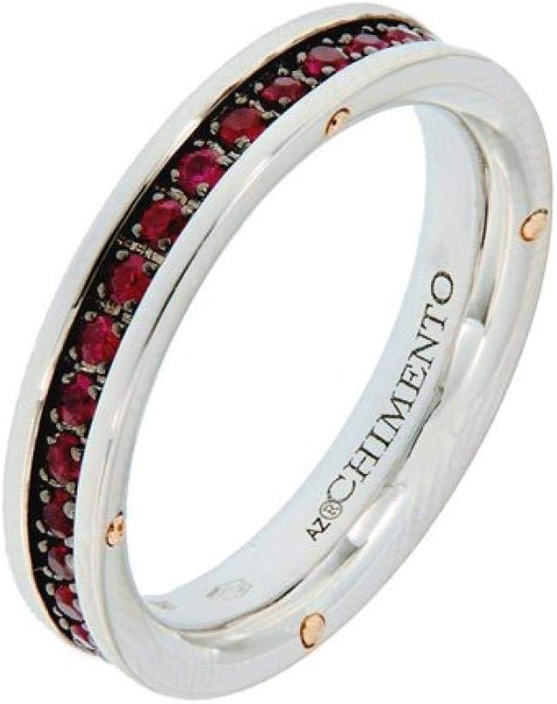 Chimento,anello per donna in oro 18 kt(6 gr)e rubini 0,77 carati 1A08485RR5140-14
