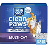 Fresh Step Advanced Clean Paws Clumping Cat Litter, Low Tracking Cat Litter with Odor Control - 18.5 lb (Package May Vary)