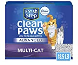 Fresh Step Advanced Clean Paws Clumping Cat Litter, Low Tracking Cat Litter with Odor Control - 18.5 lb (Package May...