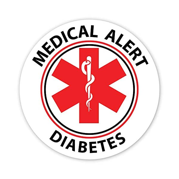 buy  Medical Alert Reflective Decals by ColorSurge | ... Diabetes Care