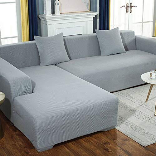 HKPLDE Sofabezug 5 Sitzer Stretch, L Form Sofaüberwürfe Verdicken Plüsch Spandex Sofabezug Ecksofa Strapazierfähig Sofaüberzüge Für Sofa-5 sitzer-C