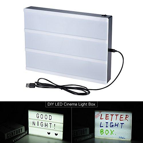 aibecy A4Dimensioni fai da te in segni di LED Cinema luce scatola Lightbox Luce Luce Libera...