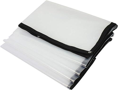 ZKKWLL Bache Bache épaisse imperméable, Film Plastique Transparent Blanc, bache isolée par Effet de Serre Bache Transparente (Couleur   A, Taille   3x7m)