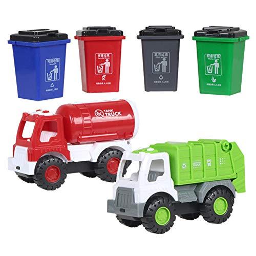 khkadiwb Kids Toy Collection Birthday Gift for Children Party Favors & Children Sanitation Truck Car Garbage Classification Bins Model Pretent Play Toy -  BLS, B535