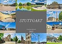 Stuttgart Stadtrundgang (Wandkalender 2022 DIN A2 quer): Ein Stadtrundgang durch die Landeshauptstadt Stuttgart (Monatskalender, 14 Seiten )