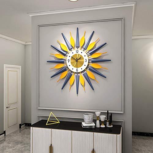 Große Metalluhren Sunburst große ausgefallene dekorative Uhr mit lautlosem Uhrwerk luxuriöser böhmischer Stil moderne Wanduhr Kunst für Wohnzimmer, Schlafzimmer, Büro Dekor