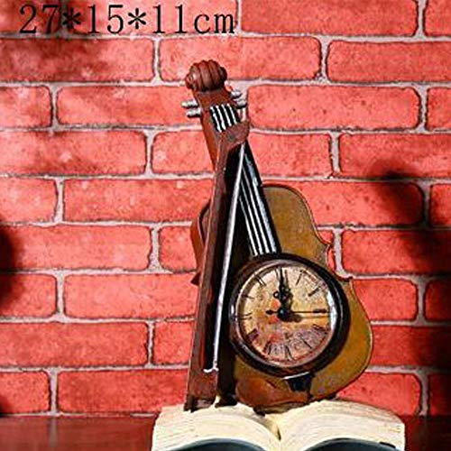 Home Decorations Geschenken Home Decorations Hars Ambachten Book Violin Decoration Klok ornamenten ZHQHYQHHX