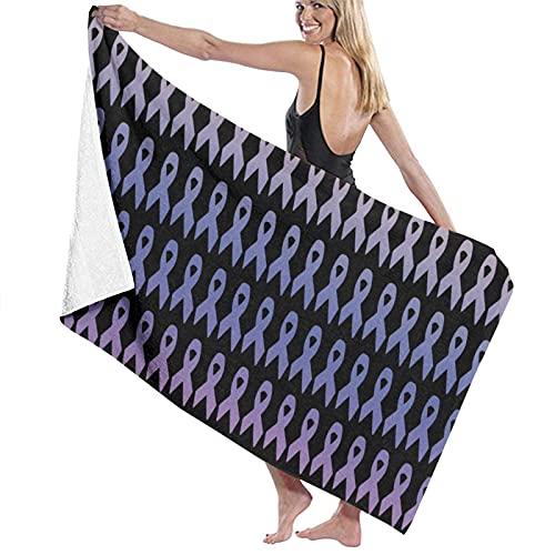 Toallas de baño,Cintas Coloridas de la Conciencia del cáncer,Toallas para Playa hogar Piscina Deporte,80 x 130cm