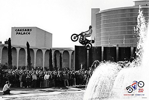 50 Years of Evel Knievel Poster - Caesars Palace Jump 1967 (36'x24')