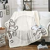 Feelyou Octopus Tentacles Blankets and Throws Kids Adults Fish Ocean Kraken Print Fleece Blankets Boys Girls Sea Animal Blanket Nautical Throw Blanketfor Couch Bed Sofa Sherpa Blanket Throw 50'x60'