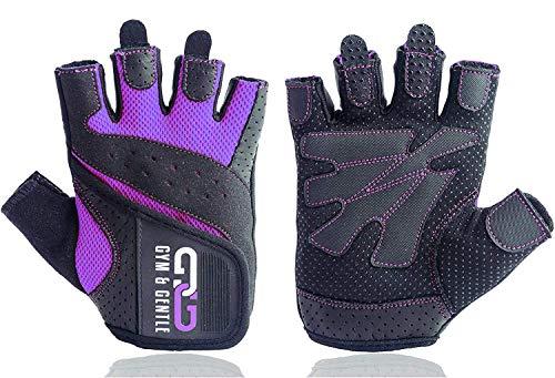 Gym & Gentle Damen Fitness Handschuhe - Schutz für Frauen beim Sport/Kraftsport/Fahrrad/Bodybuilding/Hanteltraining/Gym (Violett, S)