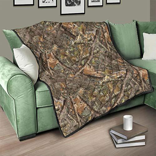 Flowerhome Nadelbaum Camouflage Steppdecke Tagesdecke Bettdecke Bettüberwurf Sofadecke Couchdecke Schlafdecke Winterdecke für Erwachsene Kinder White 230x280cm
