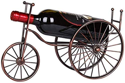 Crafts Skulptur Weinregal Weinflaschenregal Halter 1 Flasche Fahrrad freistehend Arbeitsplatte Metall Weinregal Tischplatte Weinaufbewahrung Halter Ständer fertig montiert Dekoration