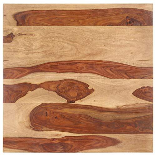 vidaXL Sheesham-Holz Massiv Tischplatte Massivholzplatte Holzplatte Ersatztischplatte Holz Platte für Esstisch Palisander 25-27mm 80x80cm