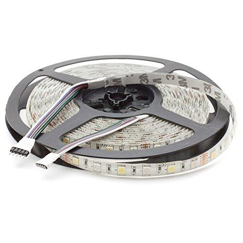 Striscia LED RGBW bianco caldo (3000 K), 24 V, 500 cm, 60 LED/m (300 pezzi), IP65