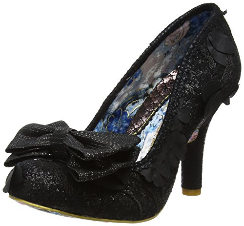 Irregular Choice Damen Mal E Bow Pumps, Black Hessian, 38 EU