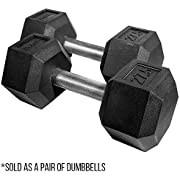 Rep Rubber Hex Dumbbells, 27.5 lb Pair