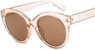2THTHT2 Rose Vintage Cat Eye Lunettes De Soleil Femme Marque Cateye Lunettes De Soleil Miroir Rond pour Les Nuances Uv400