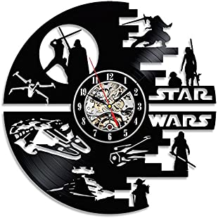 Customer reviews Decorative Star Wars Handmade Vinyl Wall Clock