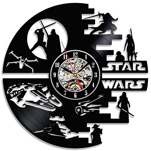 Gullei.com Dekorativer Star Wars handgefertigt Vinyl Wanduhr