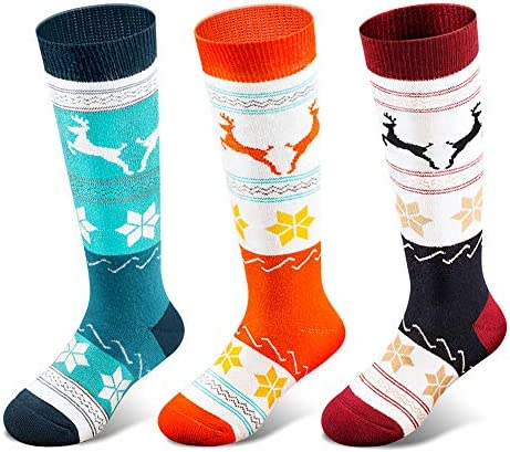 Kids Ski Socks 2 Pairs 3 Pairs for Boys Girls Thick Warm for Winter Snow Skiing Snowboard Sports product image