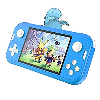 CredevZone Handheld Game Console 3.5inch Mini Retro Gaming Player 700 Classic Games Preinstalled Rechargeable Game Consoles Box for Kids Boys Chirldren  Turquoise