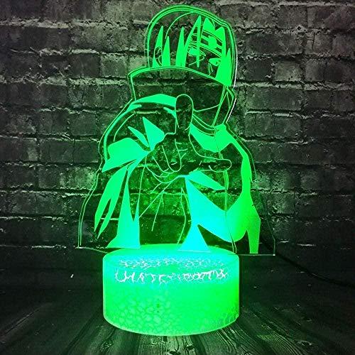 Tatapai 3D Illusion Lamp Led Night Light Uchiha Itachi Action Crack Change 7 Color Decor Bedroom Sasuke Mood Table Lamp Holiday Kids Birthday Christmas Toy