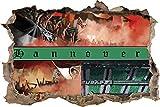 Ultras Hannover Collage, 3D Wandsticker Format: 92x62cm,