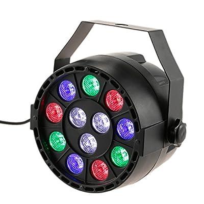 lixada DMX-512RGB High Power LED Light to show Disco Strobe Light Scene Evening Chain 15W AC 90-240V