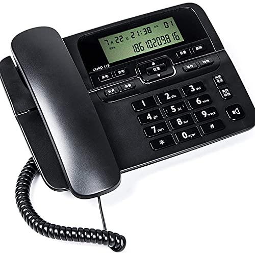 ZARTPMO Teléfono Fijo Fijo Teléfono con Cable De Escritorio con Identificador De Llamadas Retención De Llamada Altavoz Brillo LCD Ajustable Puertos Duales Teléfono Fijo con Cable