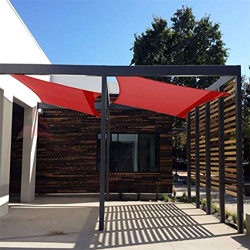 ZXL 90% Shade Fabric Sun Shade Cloth Taped Edge with Grommets, Sun-Block Mesh Shade for Outdoor Patio Garden Patio Deck Garden Pool, For Pergola Cover Canopy,1 × 2 m