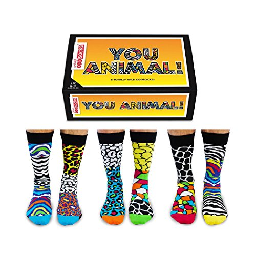 trendaffe You Animal Oddsocks Socken in 39-46 im 6er Set - Wilde Tiere Oddsocks Strumpf