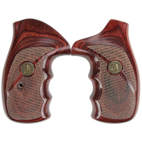Pachmayr 63040 Renegade Wood Laminate Pistol Grips, Smith & Wesson N Frame, Rosewood, Checkered