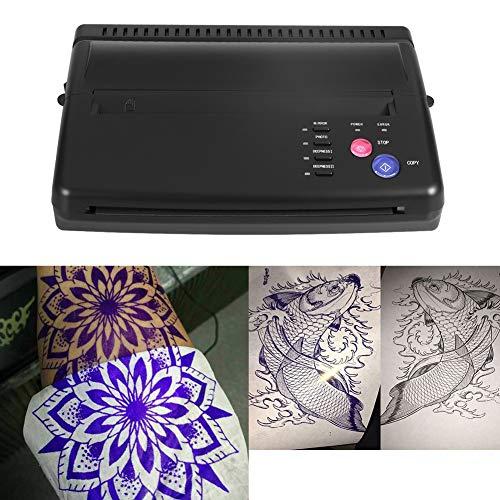 Tätowierkopierer Transfer, professioneller Drucker Transfer Schablonenautomat A5 A4 Tattoo Kopierer Thermodrucker Druckpapier für Papier(EU)